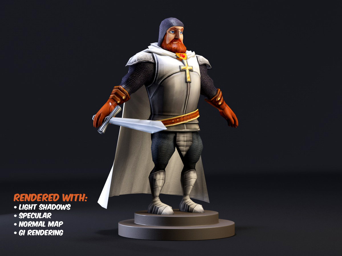 FOR FREE] Cartoon Knight 3D model Low Poly - Unity Forum