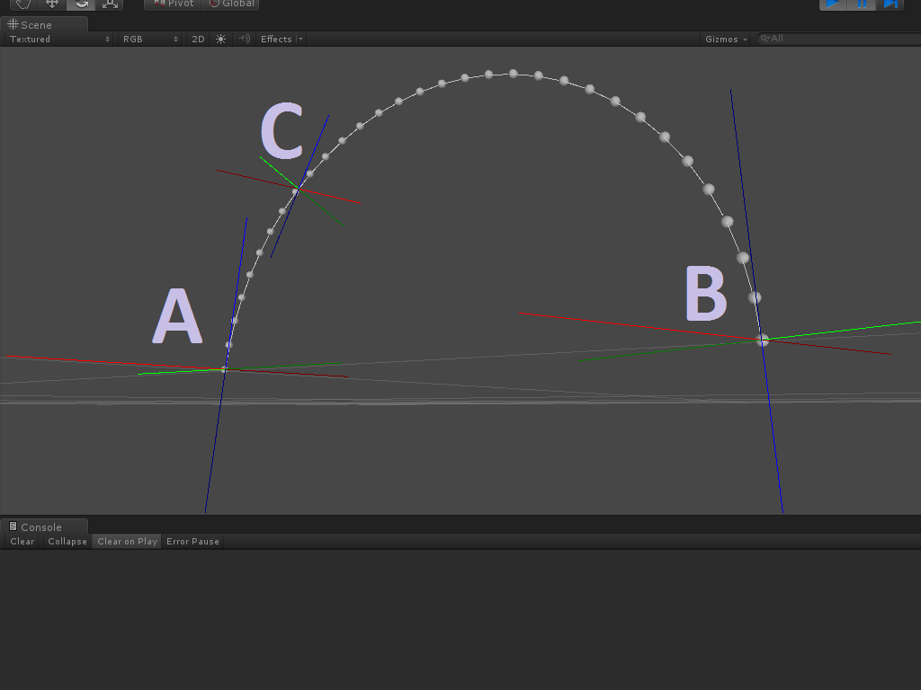 How to interpolate two angles across a linearly curved path? - Unity