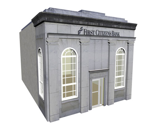 This week's free 3D model (royalty free too) is a 1900's Bank