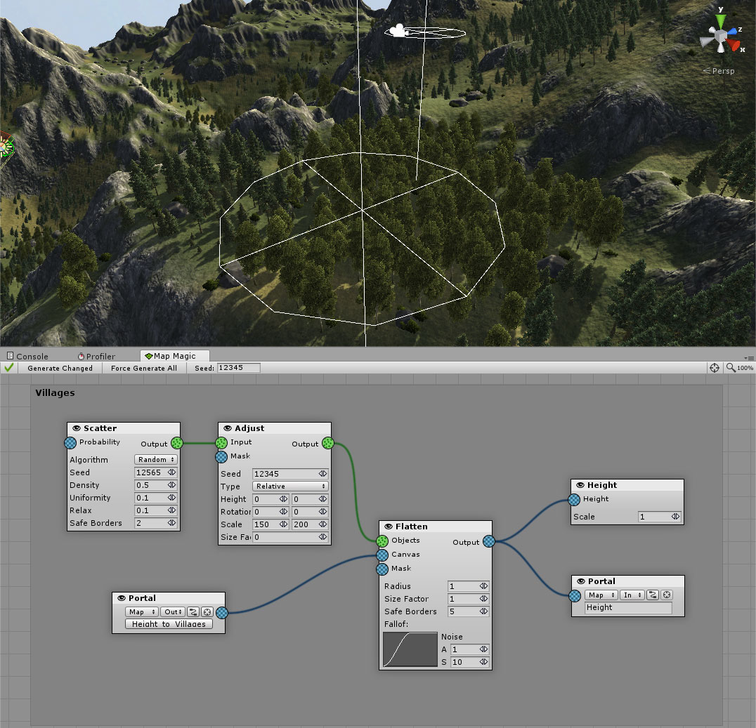 Map Magic World Generator - a node based procedural and