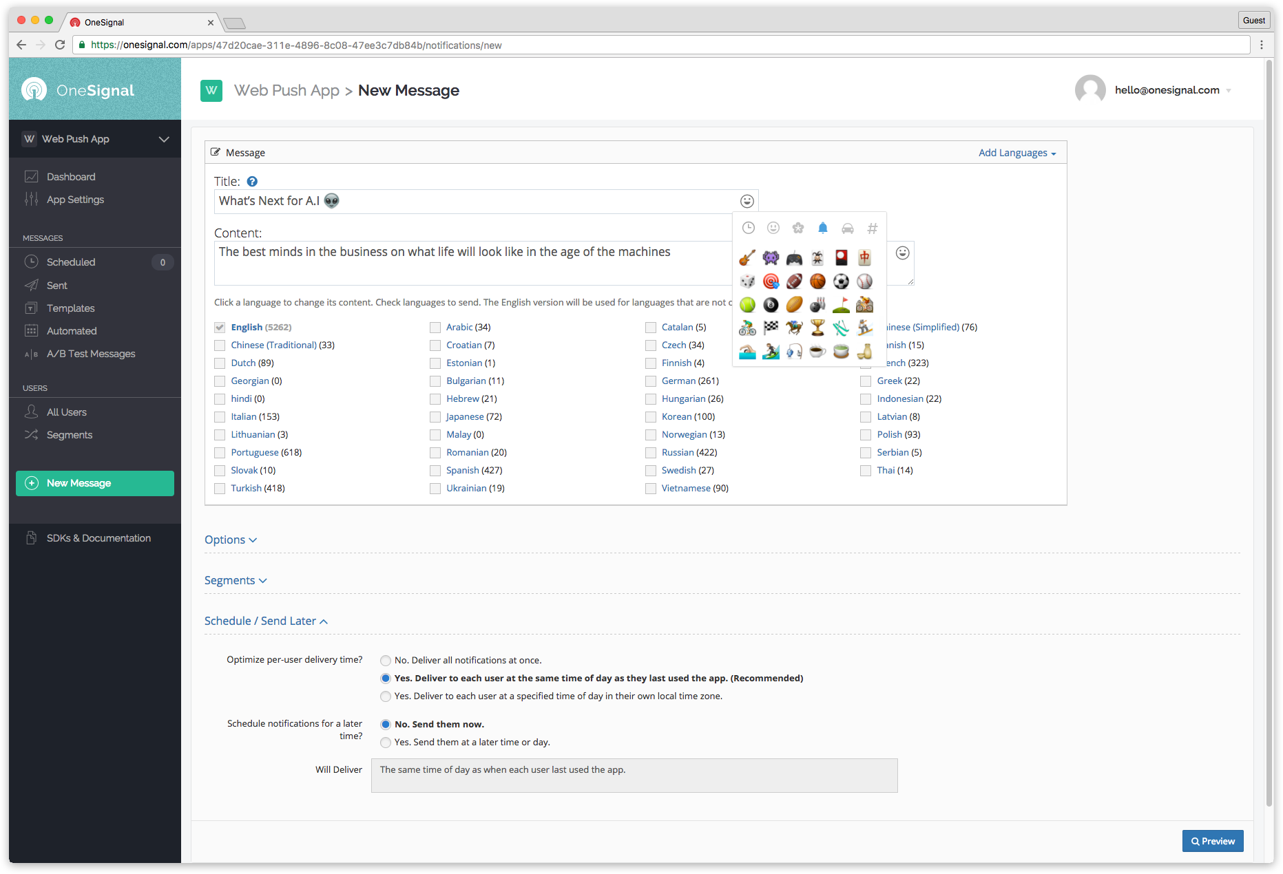 RELEASED] OneSignal - Free Multi-Platform Push Notification