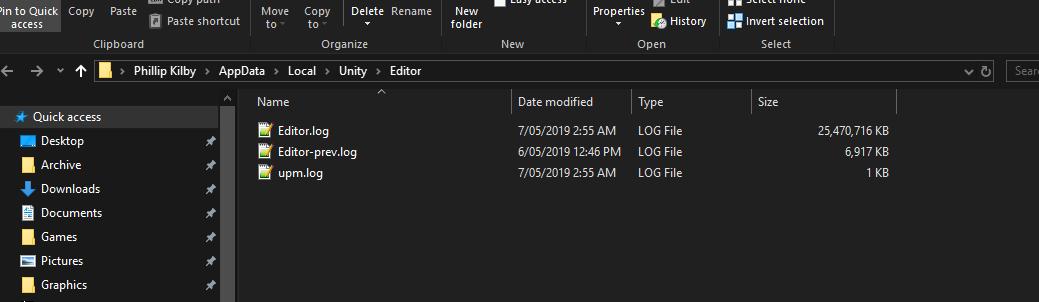 Error log 23GB and locks up windows    - Unity Forum