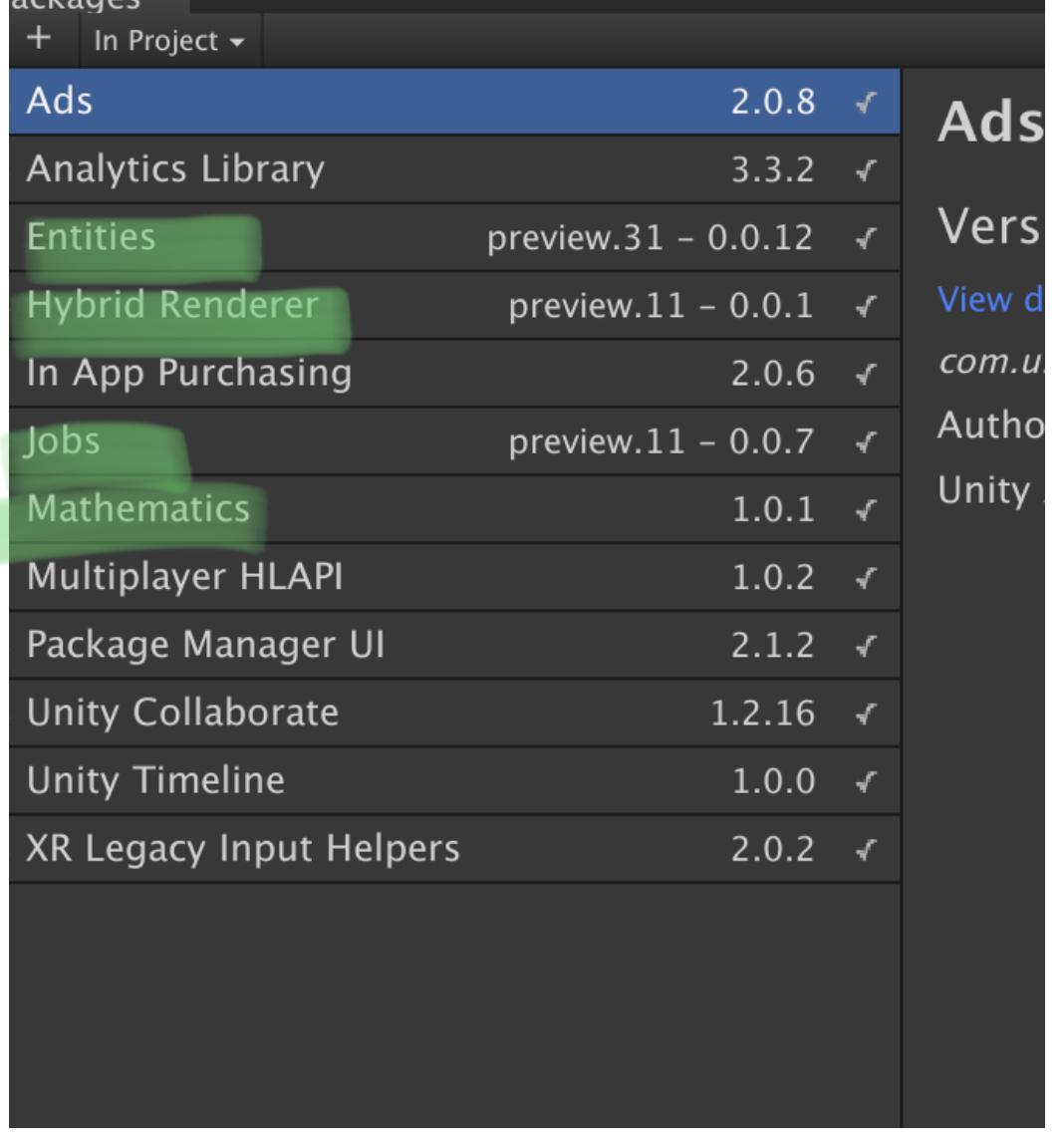 Unity 2019 0a3 ECS Compile Error - Unity Forum