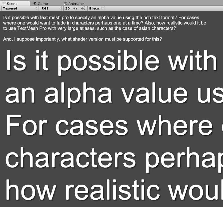 Textmesh Pro Alpha