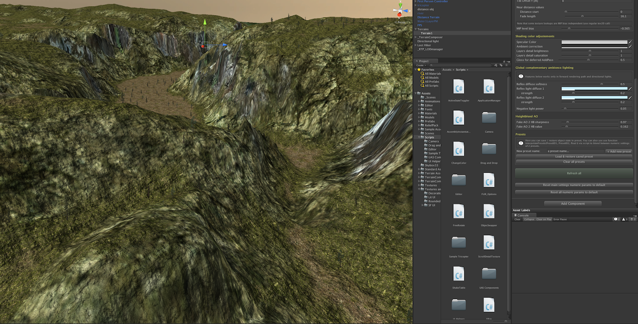 Unity asset relief terrain Pack