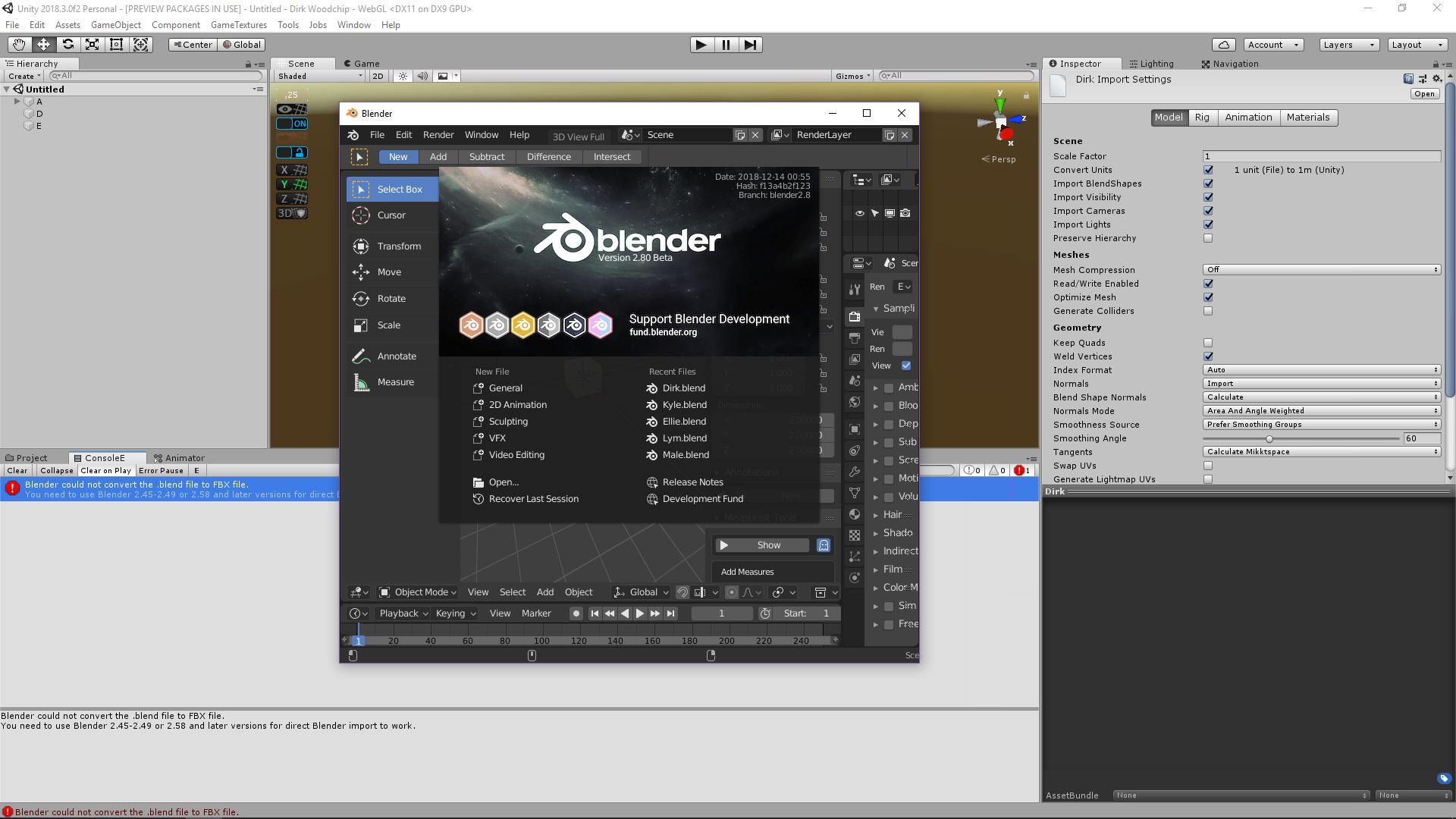 Blender 2 80 direct import - Unity Forum