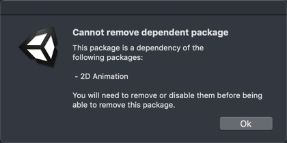 cannot remove dependent package.png