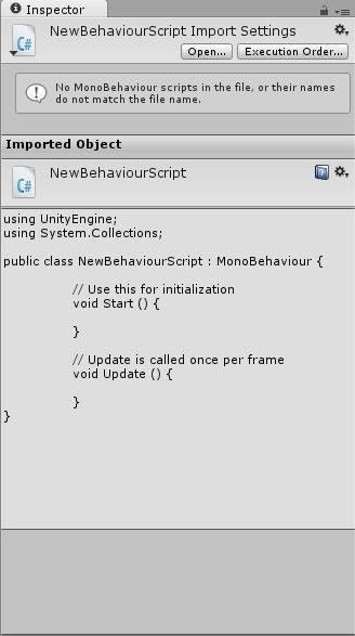 No MonoBehaviour scripts in this file?? {Answered} - Unity Forum