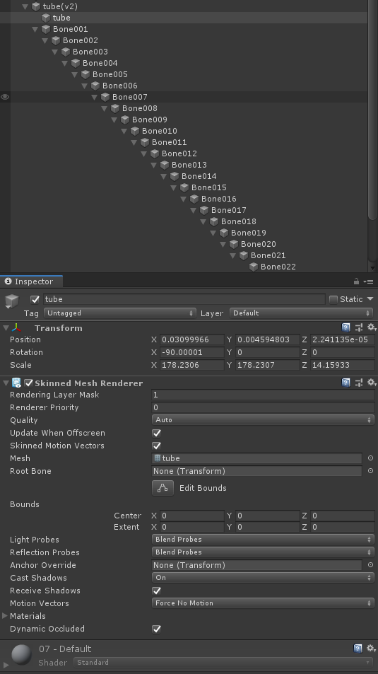 Cannot move the game object that has a skinned mesh renderer