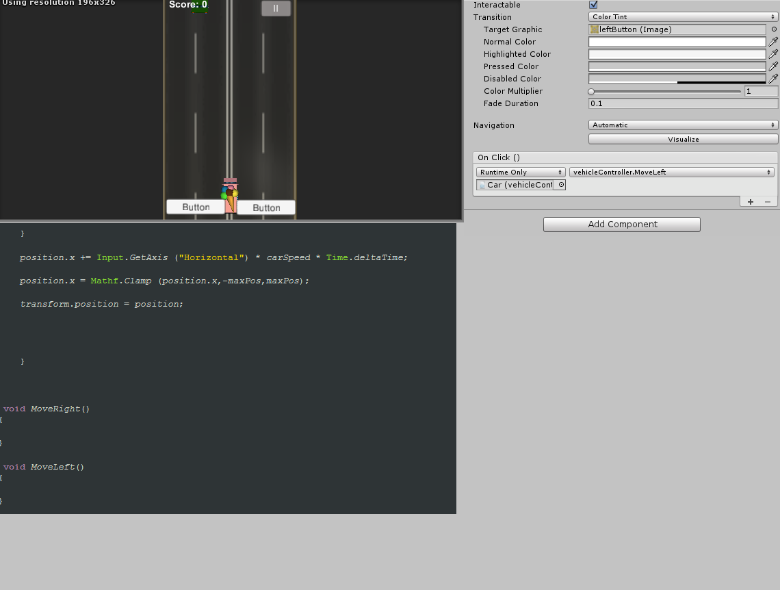 On buttonClick, move character left/right - Unity Forum