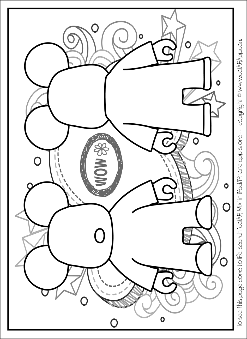 colar mix coloring pages - photo#6