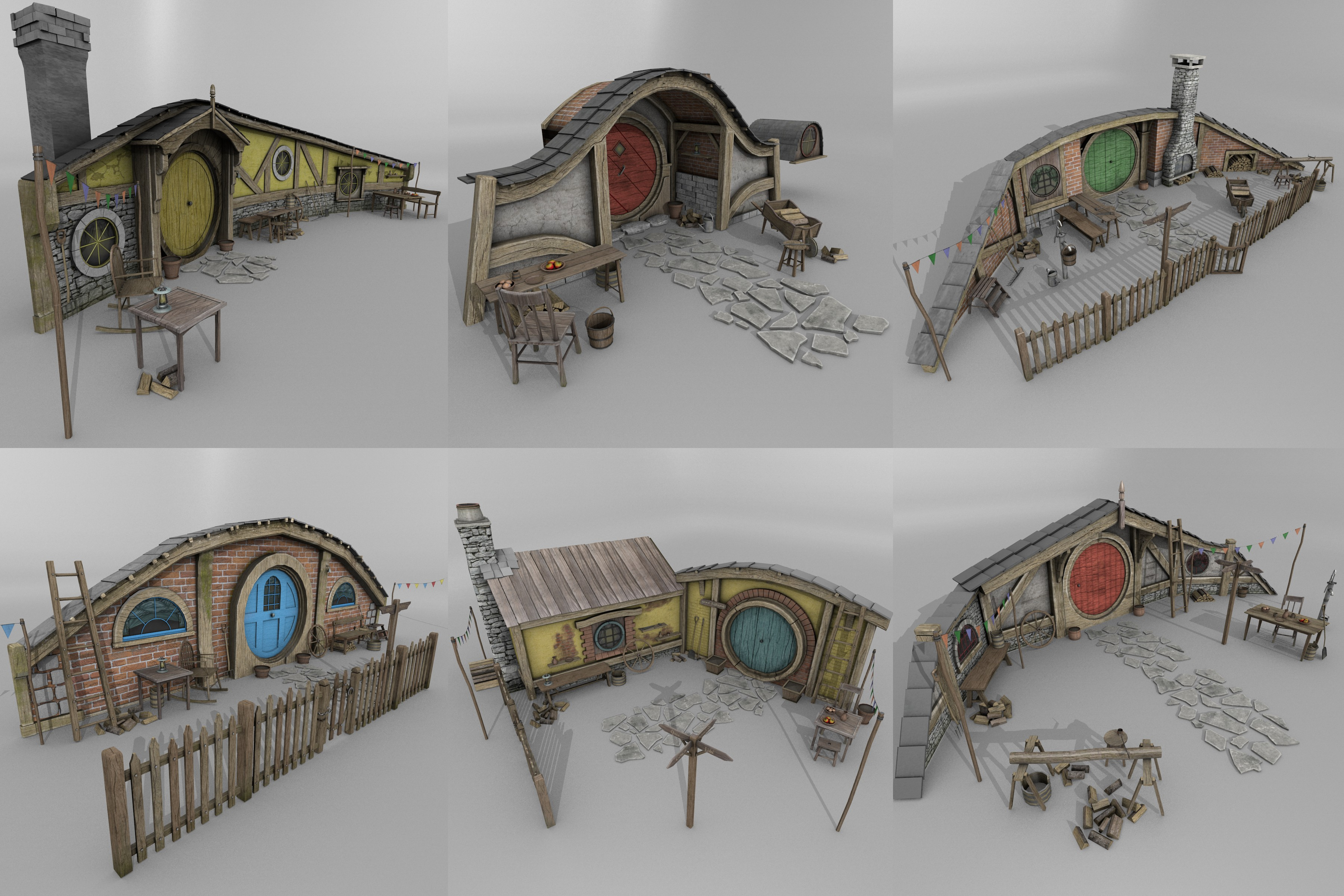 3d assets halfling homes create your own vision of for Make your own house 3d