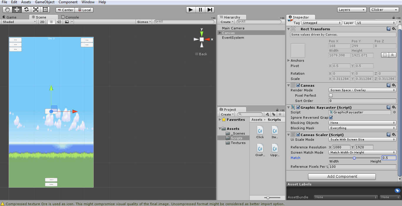 Getting the UI (canvas) to scale with my phone - Unity Forum