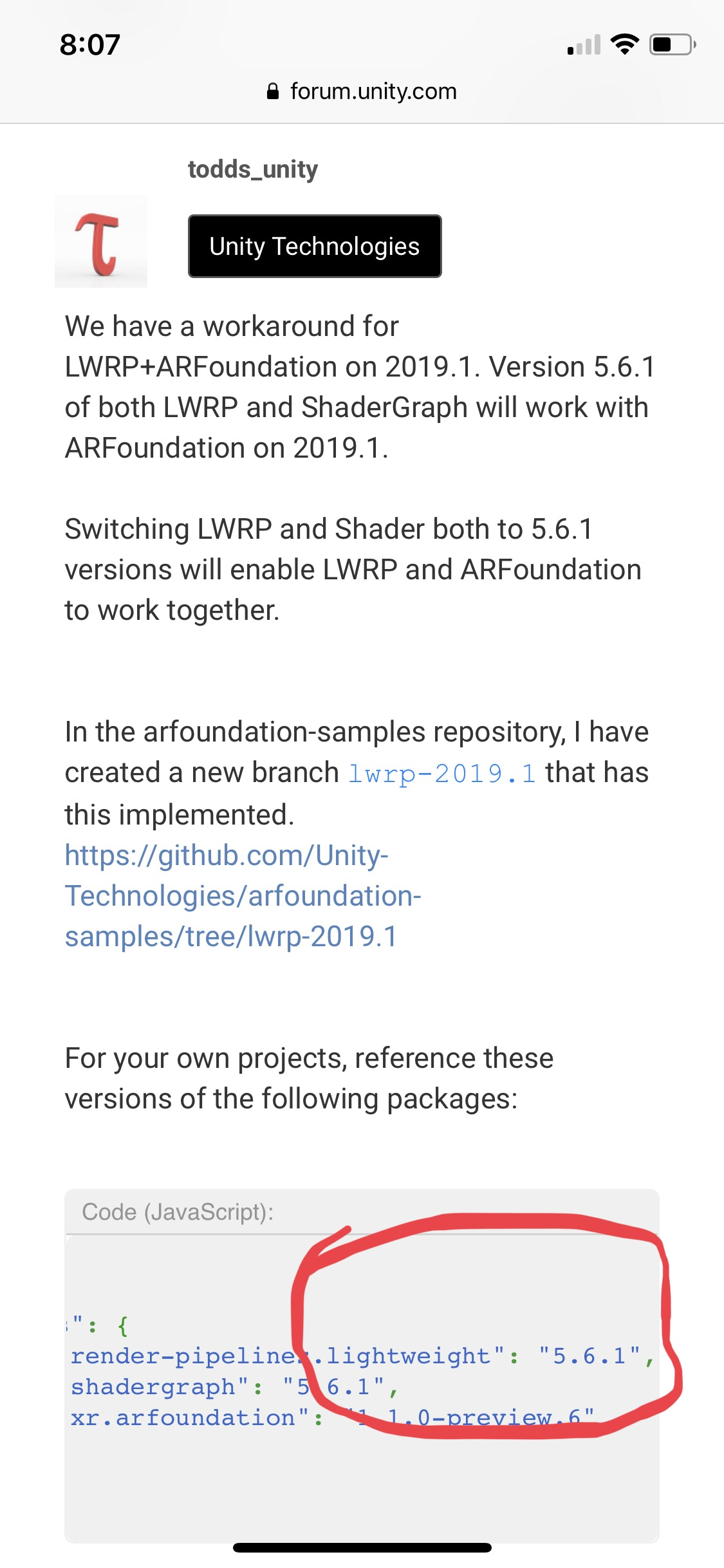 AR Foundation2 0 and LWRP compatibility - Unity Forum