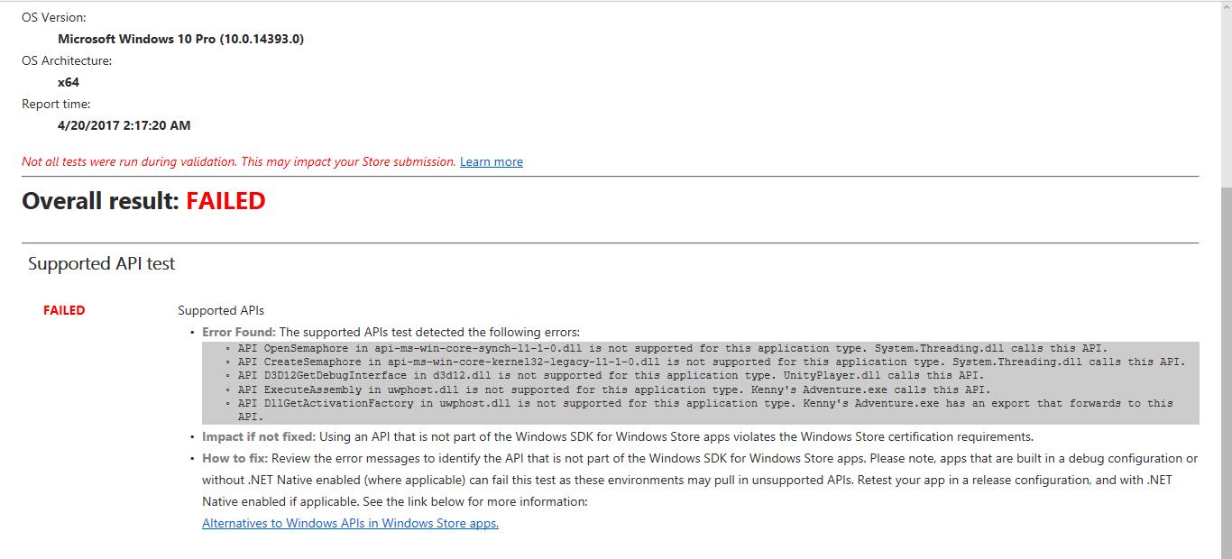 Windows Store Certification Failed Unity Forum