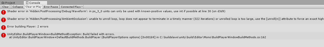 Post-processing stack V2 problems when build - Unity Forum