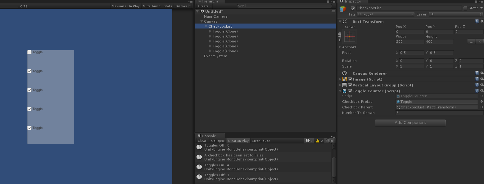 Need help with Toggle - Unity Forum