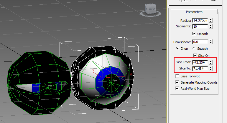 3DS Max, FBX Export, Animation and Sphere Slice To/From