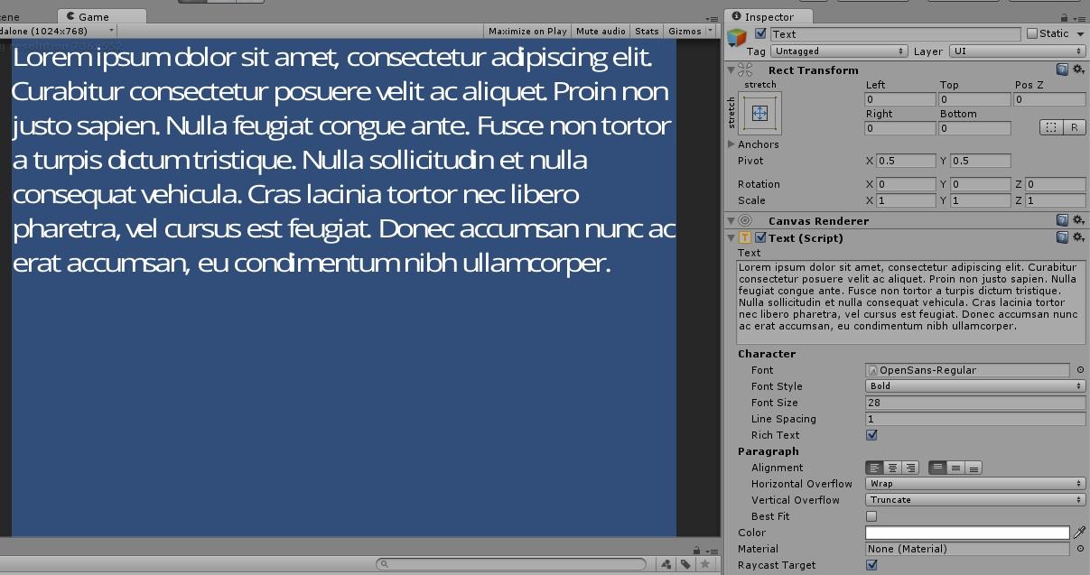 Bold and italic font variants - Unity Forum
