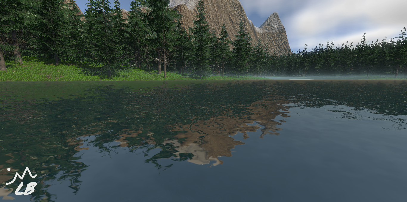 Forest With Mountains And Lake W3.png