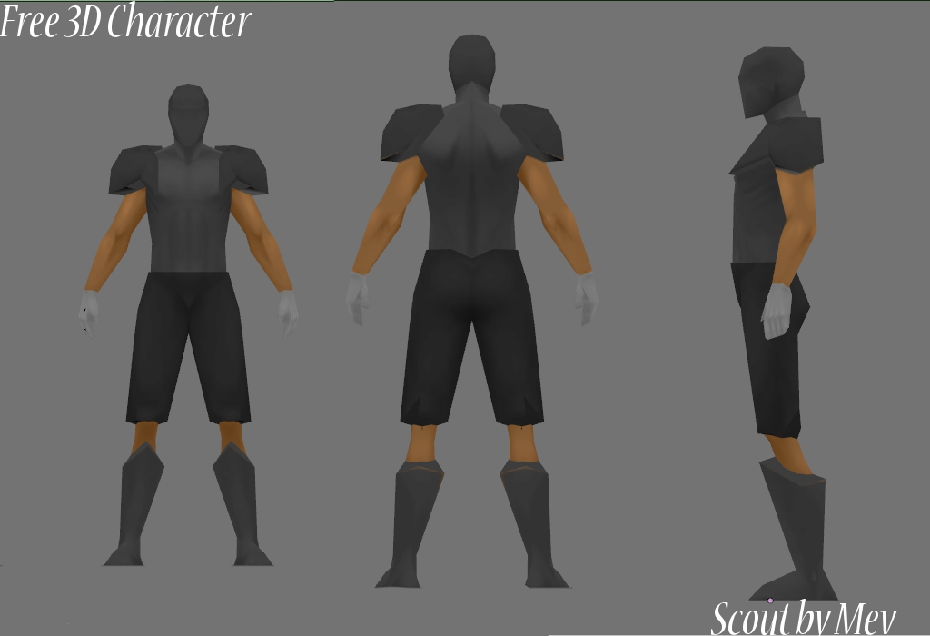 free 3d game character fps or tps character including link to