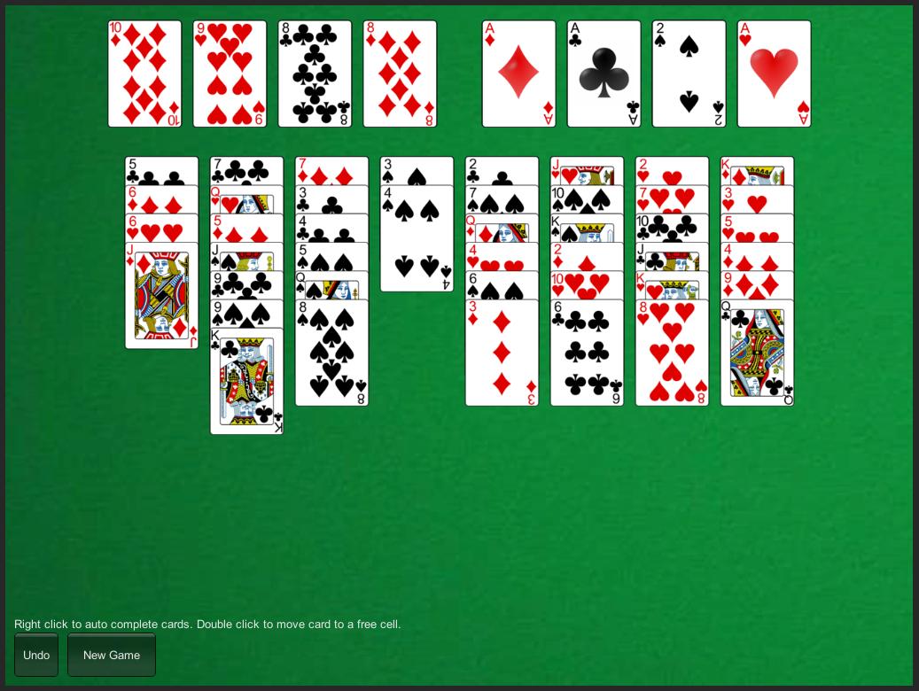 freecell playing card starter kit
