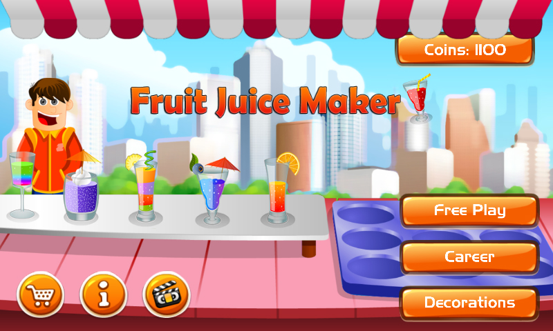 Fruit Juice Maker Game Kit, super flexible cooking template for all
