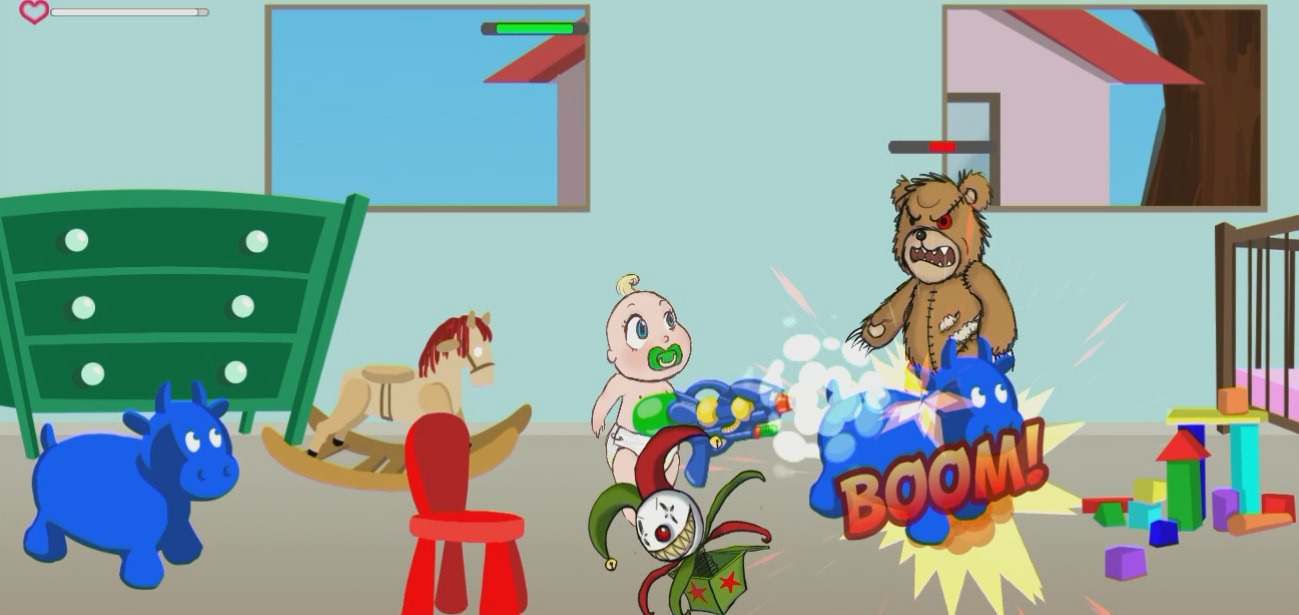 Babies Vs Toys, 2D Beat 'em up game built with unity