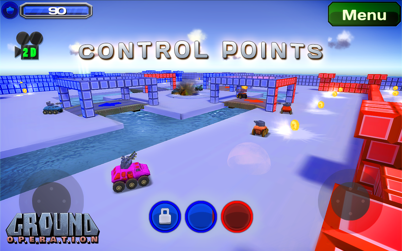 Ground Operation Top Down View Car Combat Game For Mobiles Unity