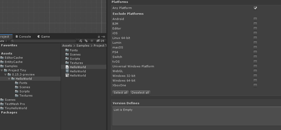 Project Tiny C# Preview (0 15 3) available - Unity Forum