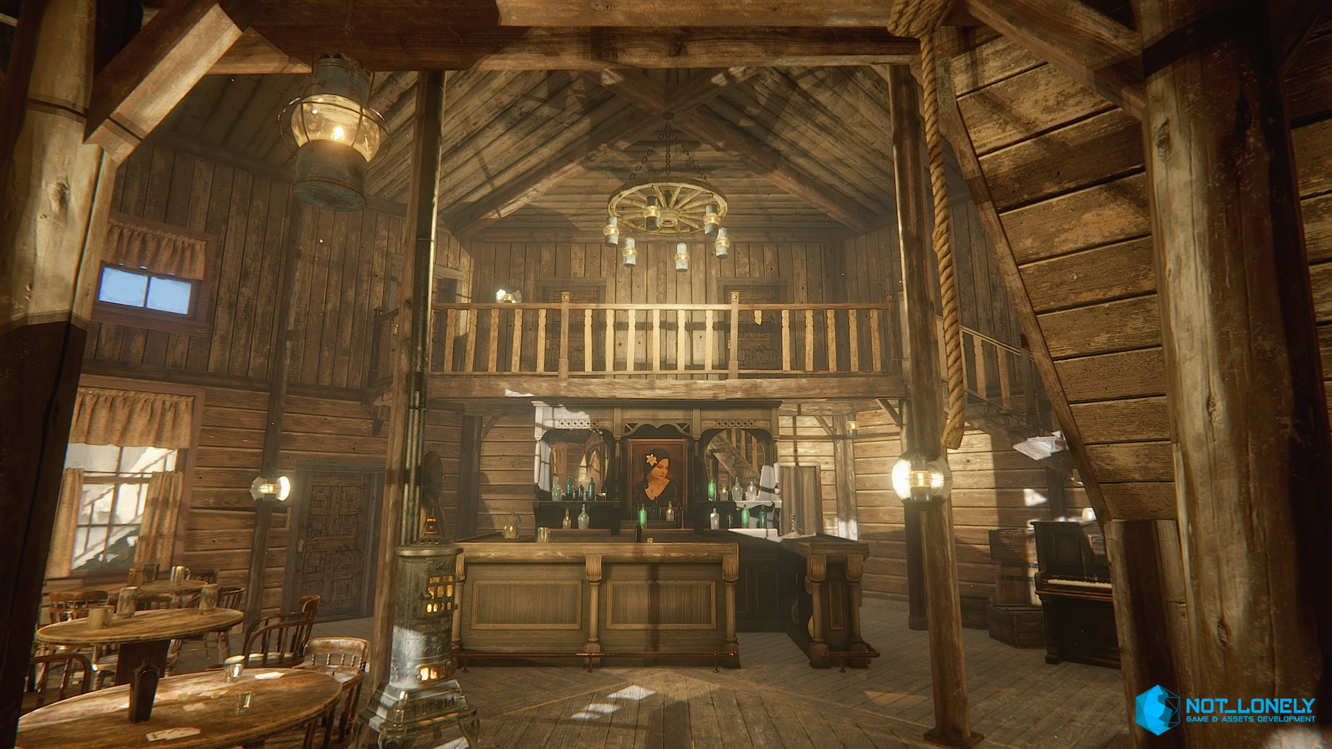 Assets released hq western saloon unity community for Salon western