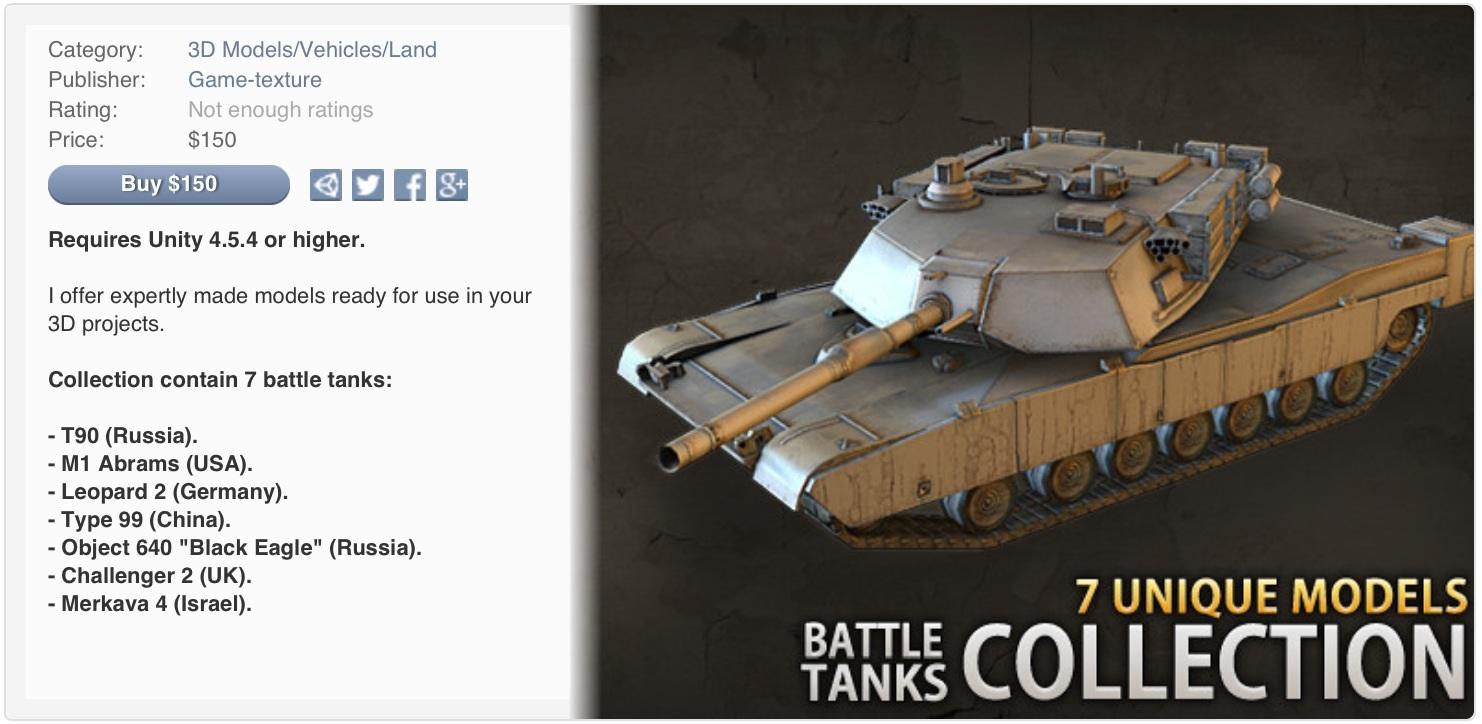 RELEASED] 7 Modern Battle Tanks - Unity Forum