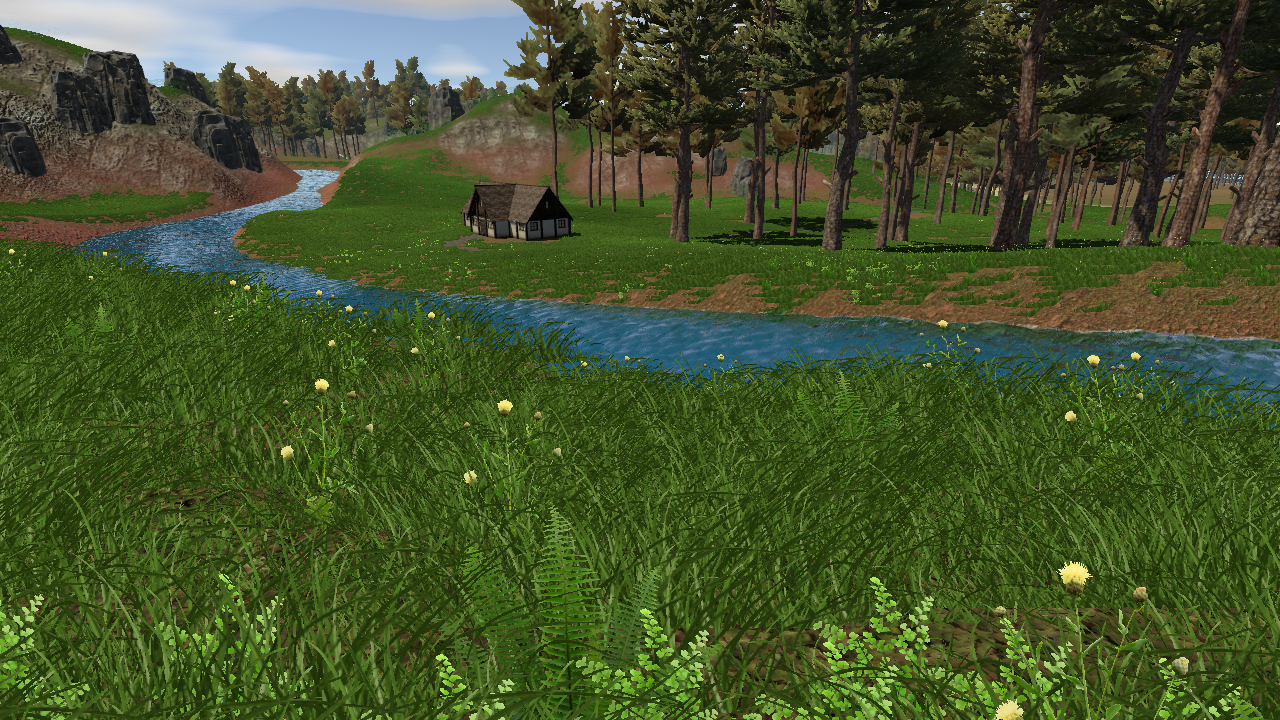 River Water Texture Map surface mesh and restr...