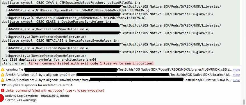Unity 5 6 0b10 iOS GVR Native Linker error - Unity Forum