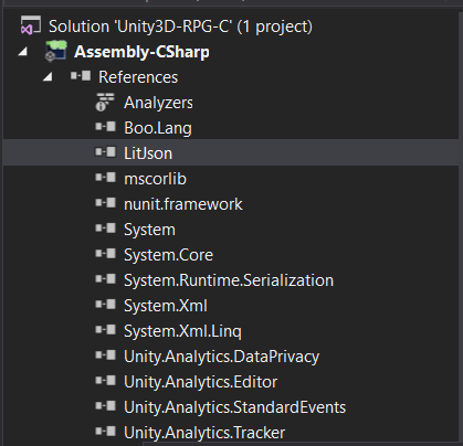 Unity complains about missing assembly reference when using external