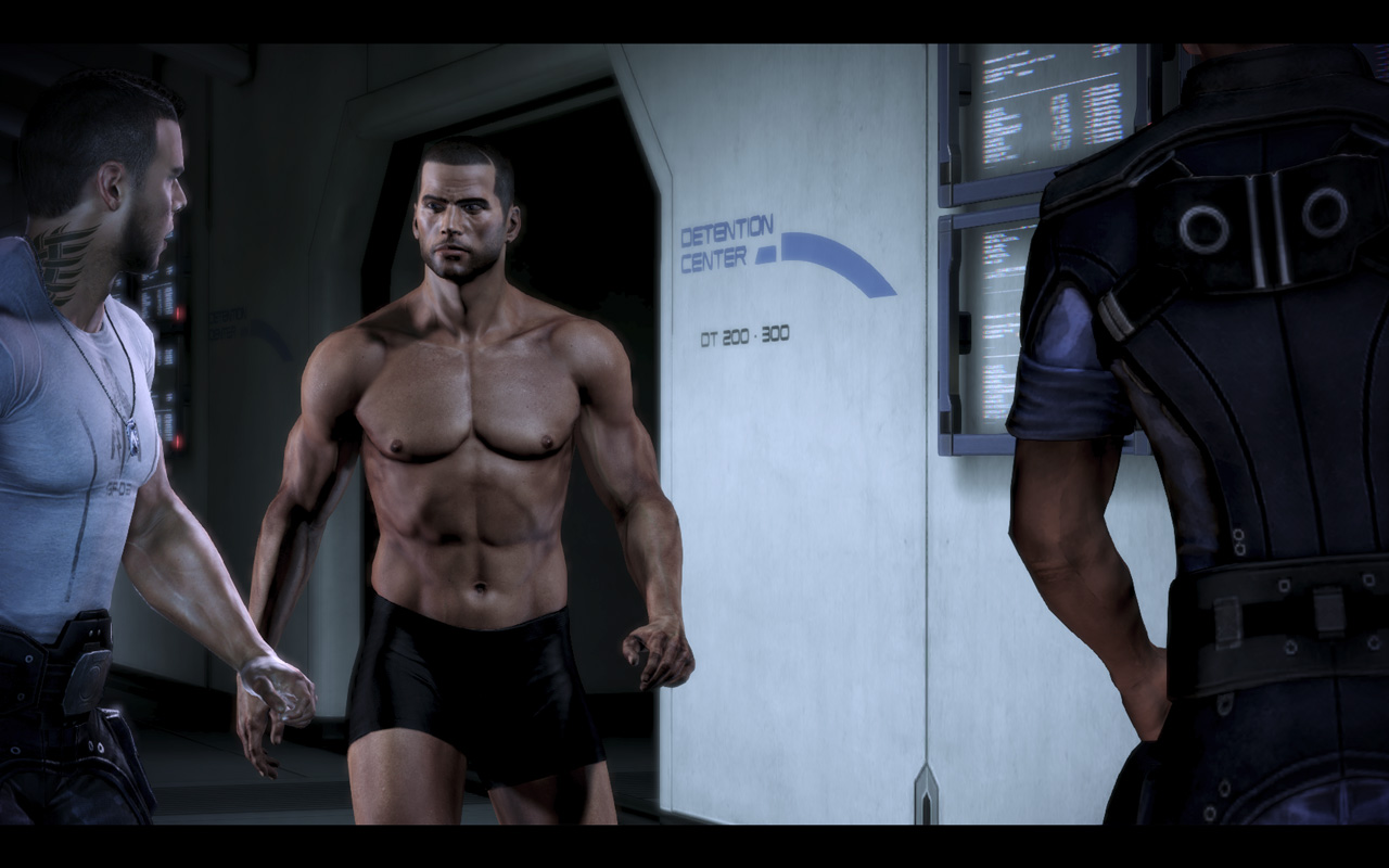 Image result for mass effect commander shepard male shirtless