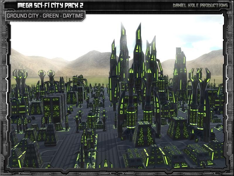 mega sci fi city pack 2 released webplayer unity forum. Black Bedroom Furniture Sets. Home Design Ideas