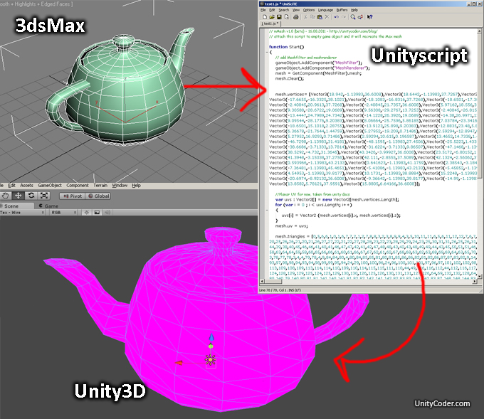 mMesh (3ds Max mesh to unityscript converter) - Unity Forum