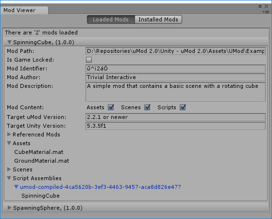 Released] uMod 2 0 - Modding support made easy! | Page 2 - Unity Forum