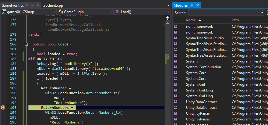 How to step into a native C++ dll in Visual Studio? - Unity