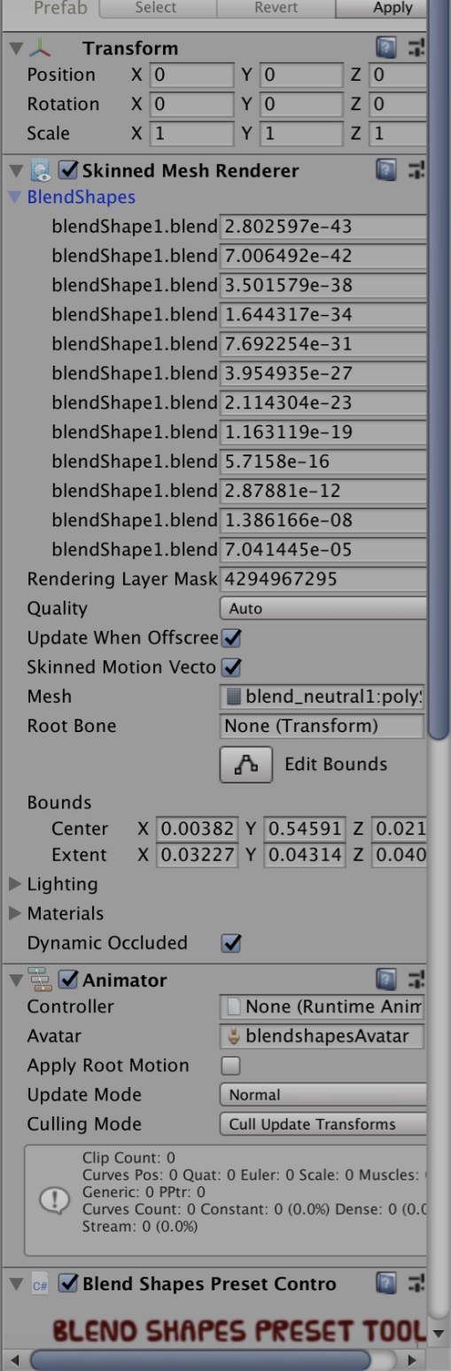 Blend Shapes Preset Tool [Released] - Unity Forum