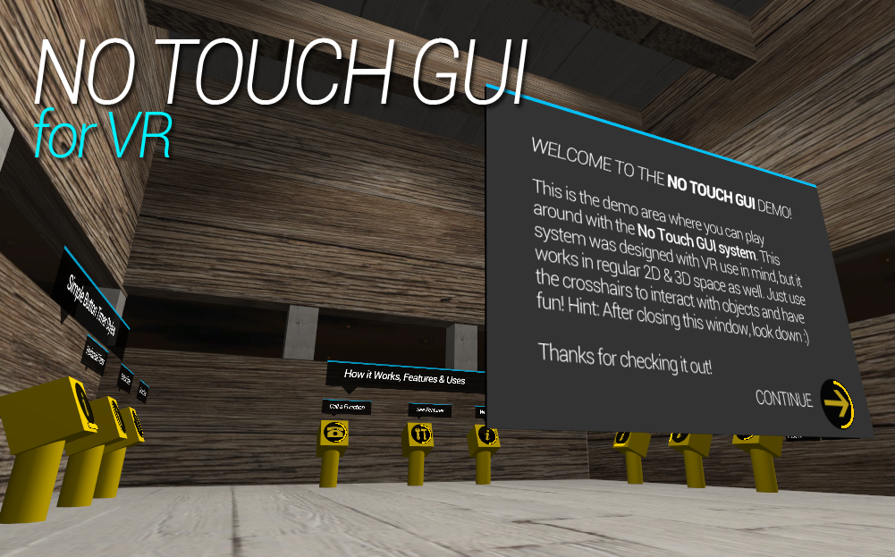 RELEASED] No Touch GUI for VR - Add interaction to your VR