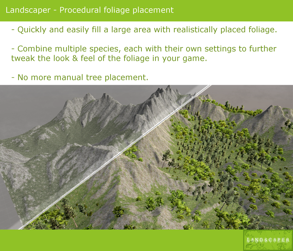 Landscaper - A tool for procedural foliage placement - Unity Forum