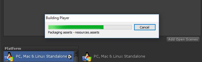Build stuck on packaging assets - resources assets - Unity Forum