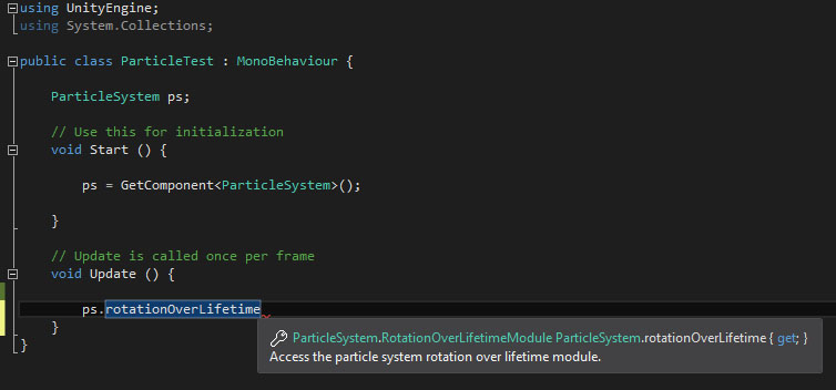 Can't set any new Particle System properties through script