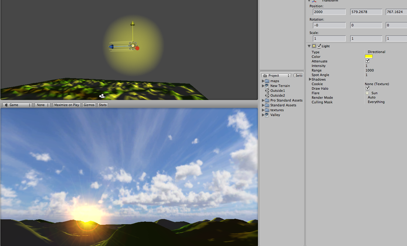 Sun vs Directional Light and flare - Unity Forum