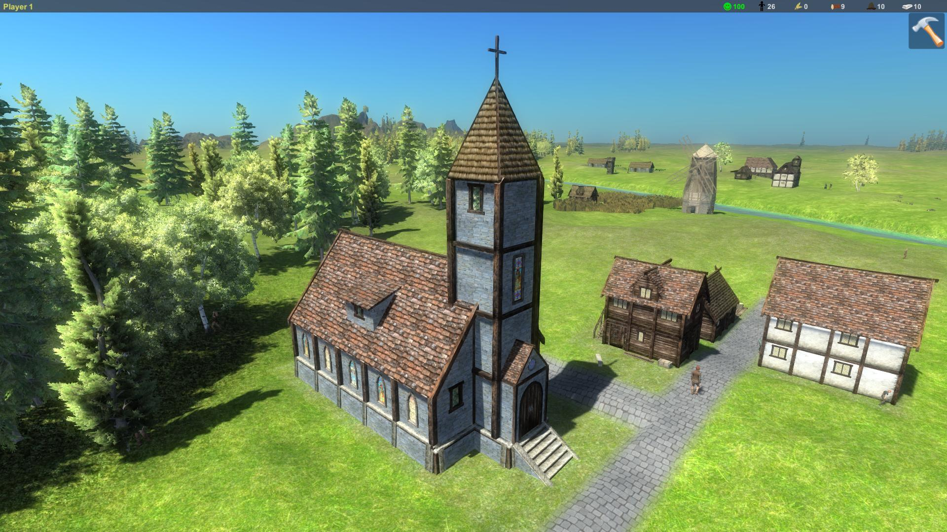 games lords peasants medieval city building rts unity forum