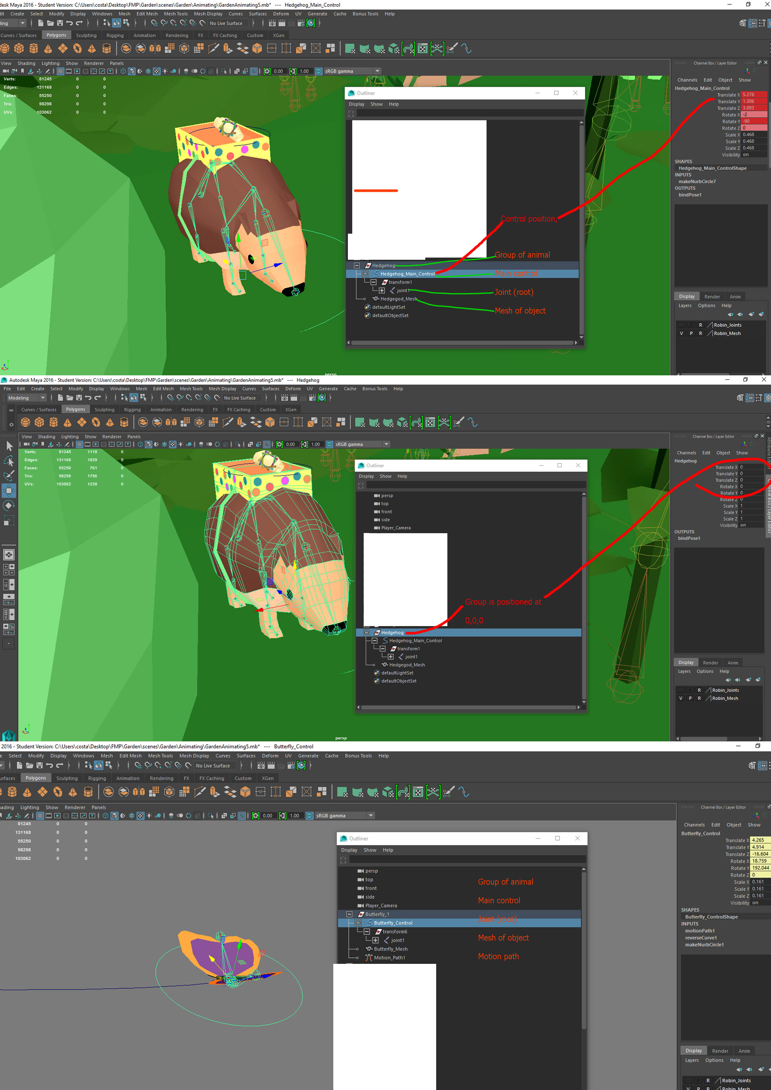Unity is not placing my objects in the same position as in