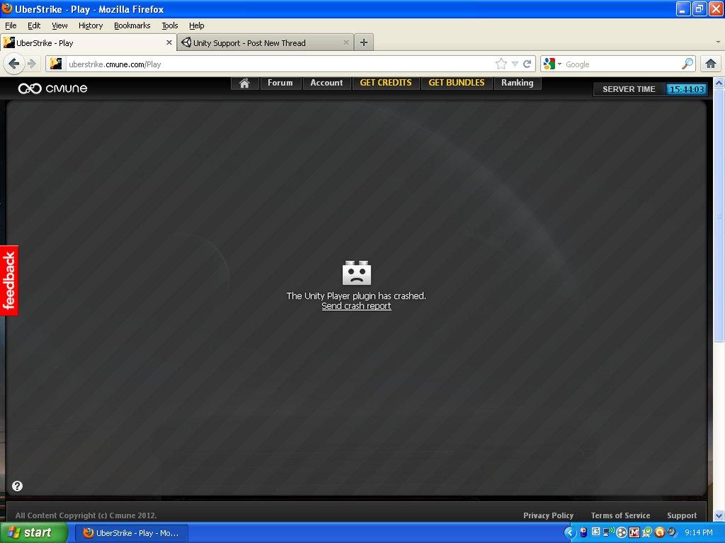 Unity WebPlayer Plugin Keeps Crashing - Unity Forum