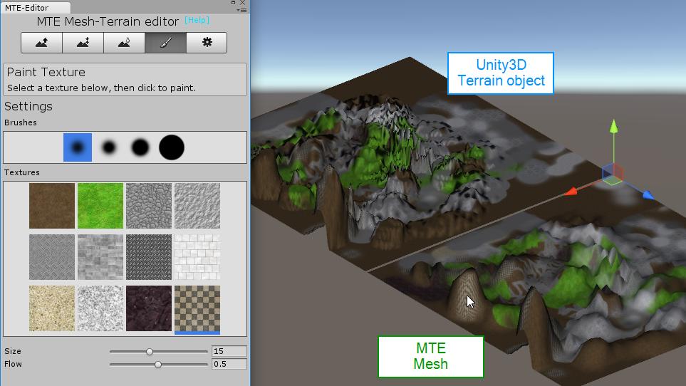 Mesh Terrain Editor, a mesh-based terrain creator, converter and